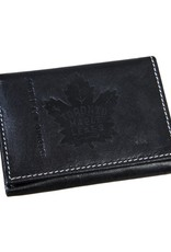 Team Sports America NHL Tri-Fold Leather Embossed Wallet Maple Leafs