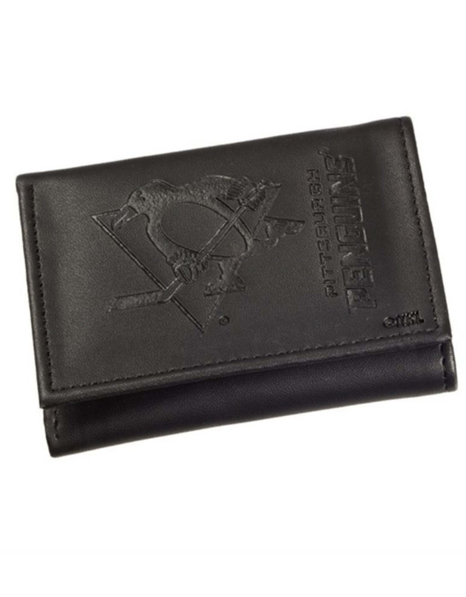 Team Sports America NHL Tri-Fold Leather Embossed Wallet Penguins