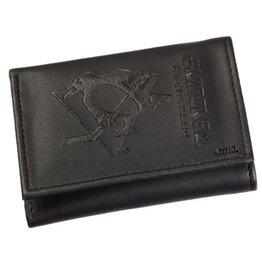 Team Sports America NHL Tri-Fold Leather Embossed Wallet Penguins