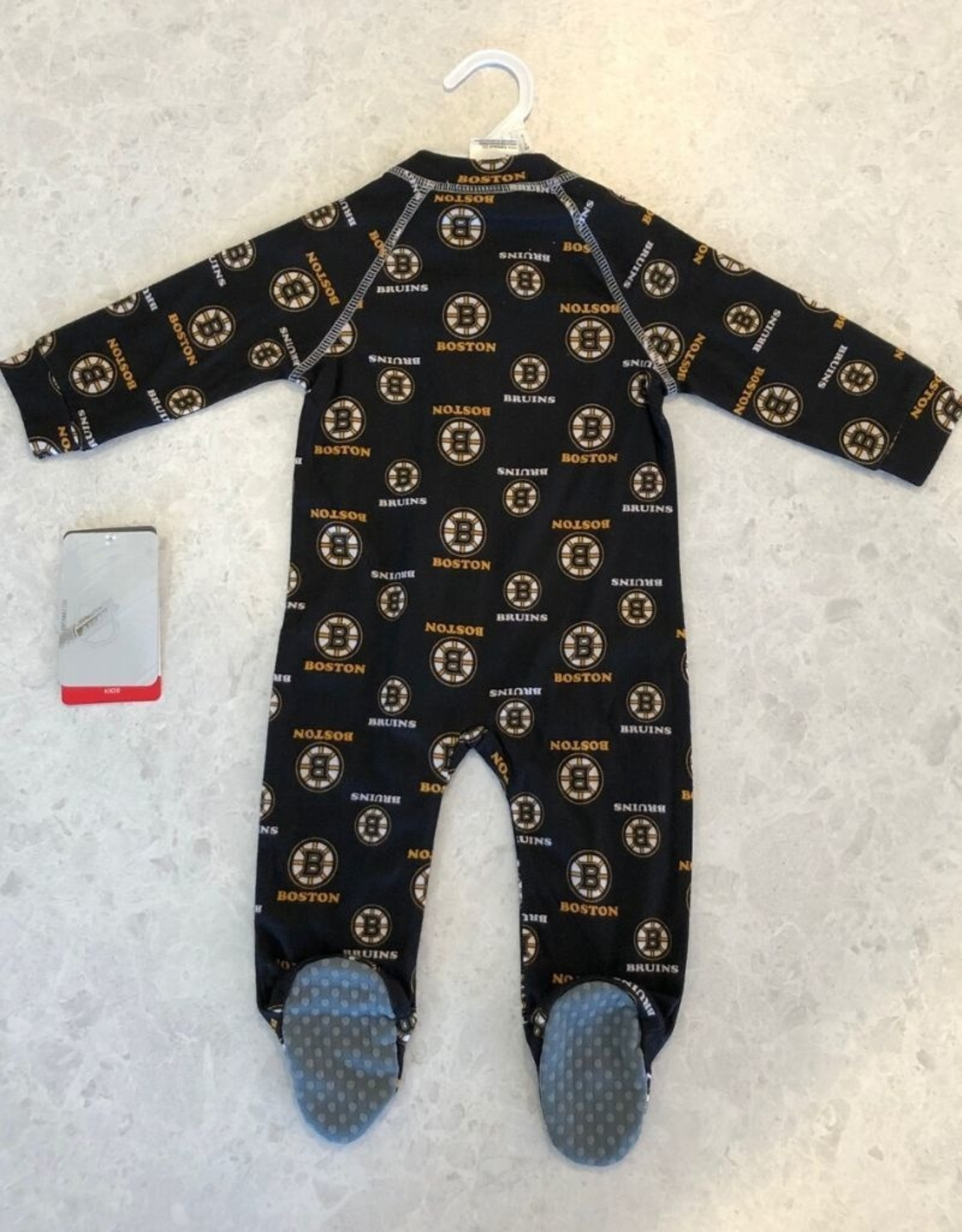 NHL Child Raglan Zip Up Coverall Onesie Bruins