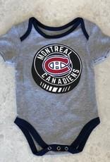 NHL Child Team Logo Puck Diaper Shirt Canadiens Grey