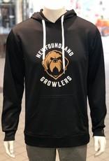 ECHL AK Name Around Logo Hoodie Growlers Black