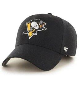 '47 MVP Men's Hat Primary Logo Pittsburgh Penguins Black Adjustable