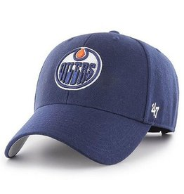 '47 MVP Men's Hat Primary Logo Edmonton Oilers Blue Adjustable