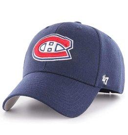'47 MVP Men's Hat Primary Logo Montreal Candiens Blue Adjustable