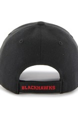 '47 MVP Men's Hat Primary Logo Chicago Blackhawks Black Adjustable