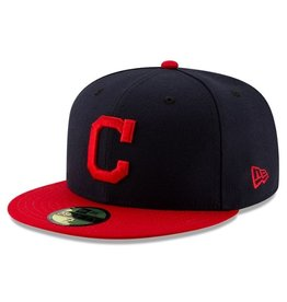 New Era On-Field Home Hat Cleveland Indians Navy/Red