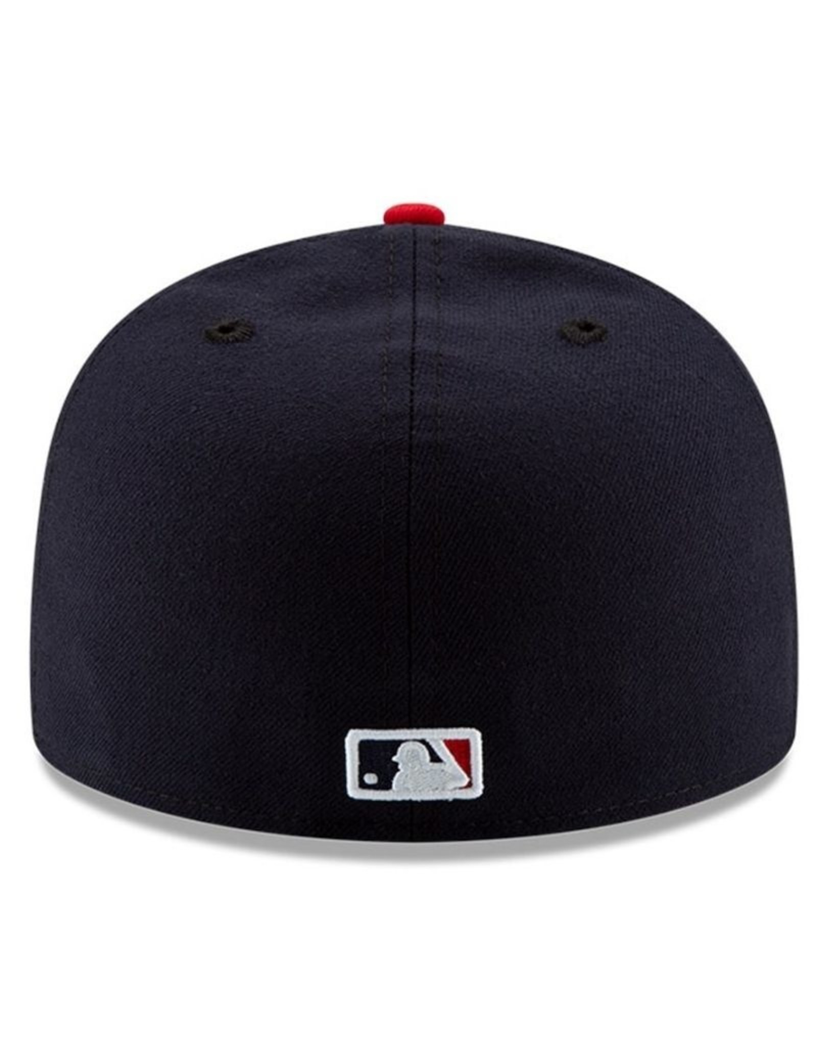 New Era On-Field Authentic 59FIFTY Home Hat Cleveland Indians Navy/Red