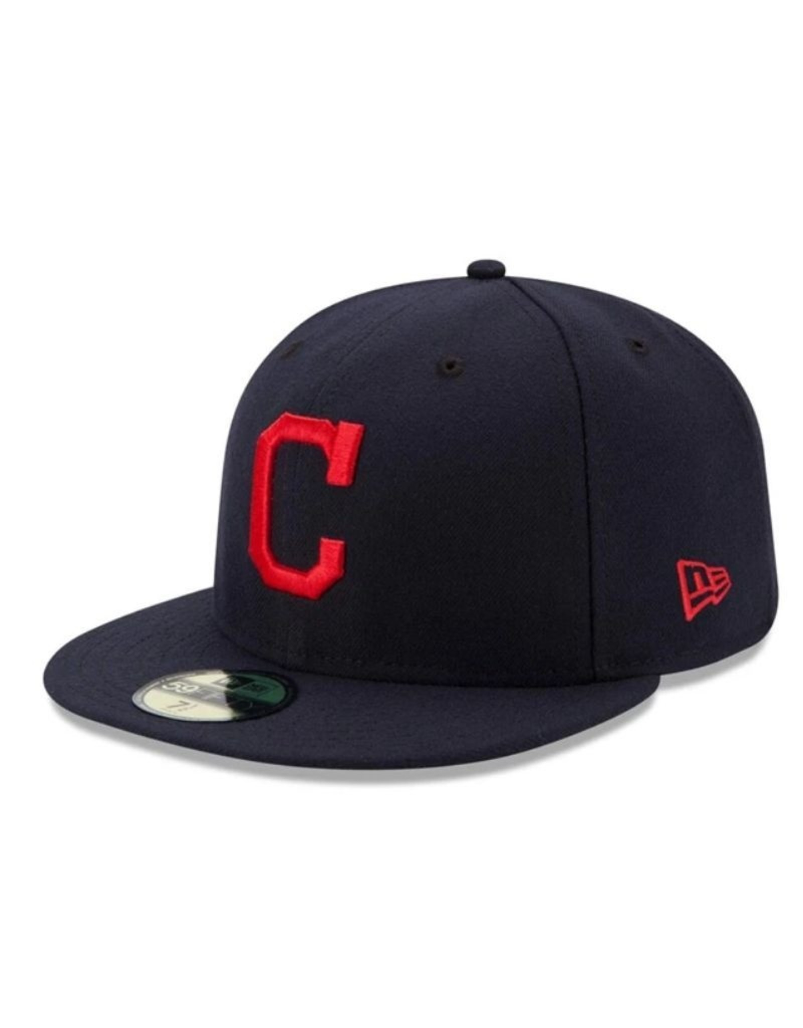 New Era On-Field Road Hat Cleveland Indians Navy