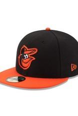 New Era On-Field Road Hat Baltimore Orioles Black/Orange