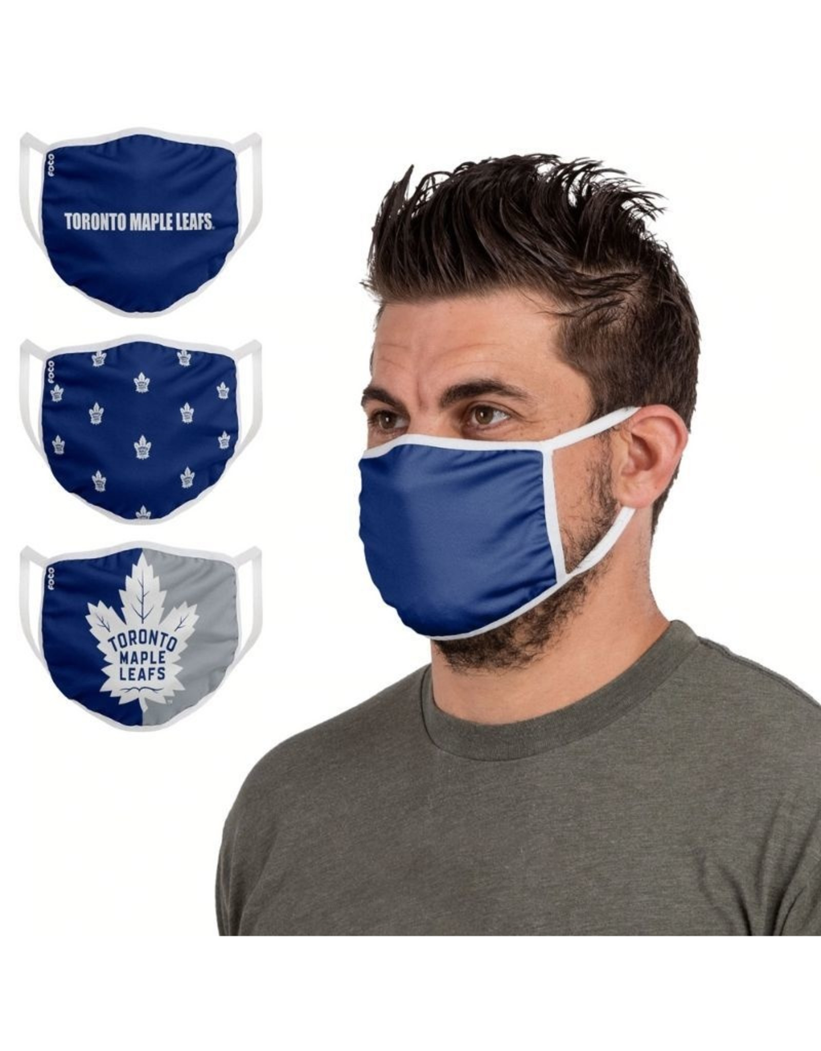 FOCO FOCO Adult Face Cover 3 Pack Toronto Maple Leafs