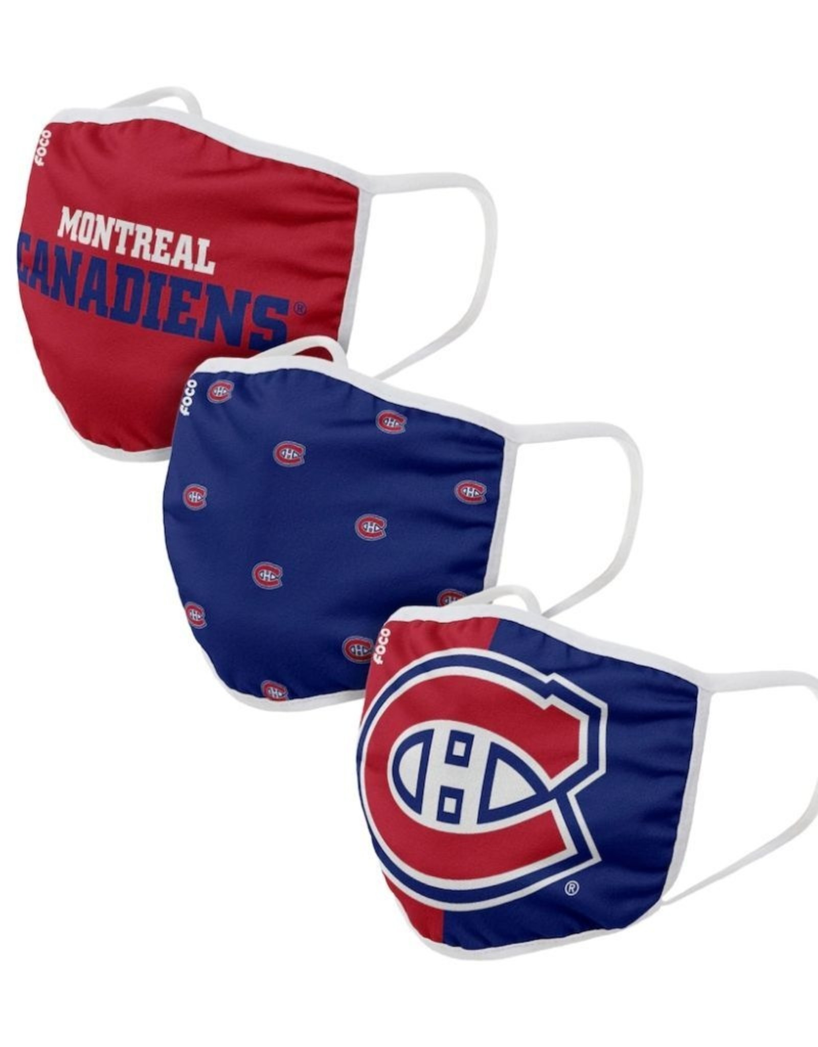 FOCO NHL Face Masks 3 Pack Canadiens
