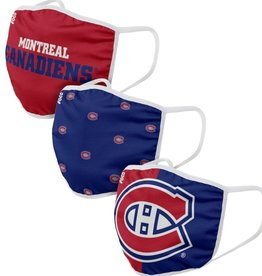 FOCO FOCO Reusable Face Coverings 3 Pack Montreal Canadiens