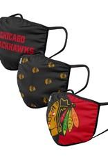 FOCO NHL Face Masks 3 Pack Blackhawks