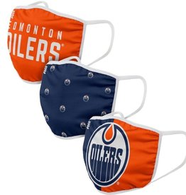 FOCO FOCO Reusable Face Coverings 3 Pack Edmonton Oilers