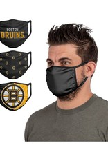FOCO FOCO Adult Face Cover 3 Pack Boston Bruins