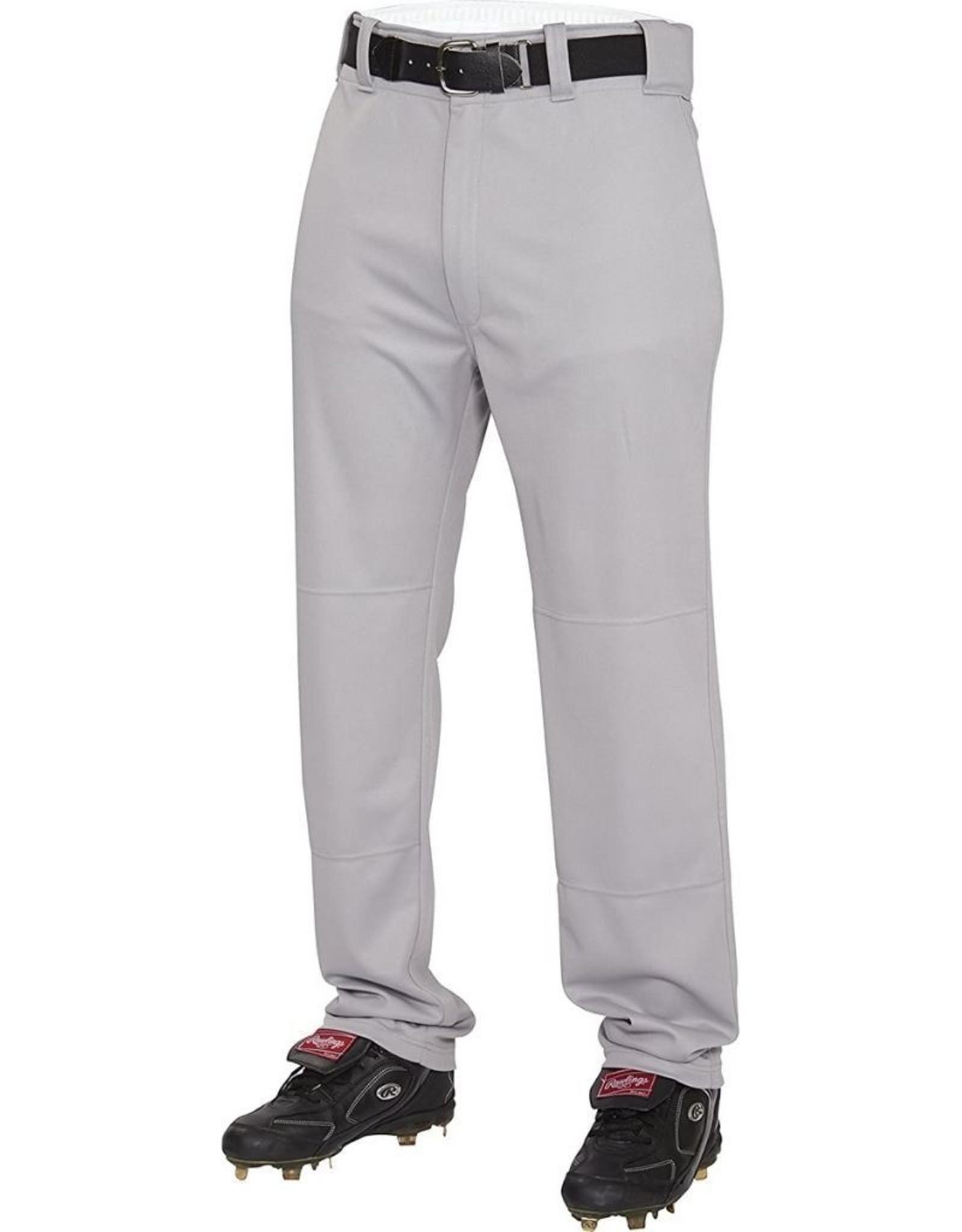Rawlings Semi-Relaxed Adult Baseball Pants Grey