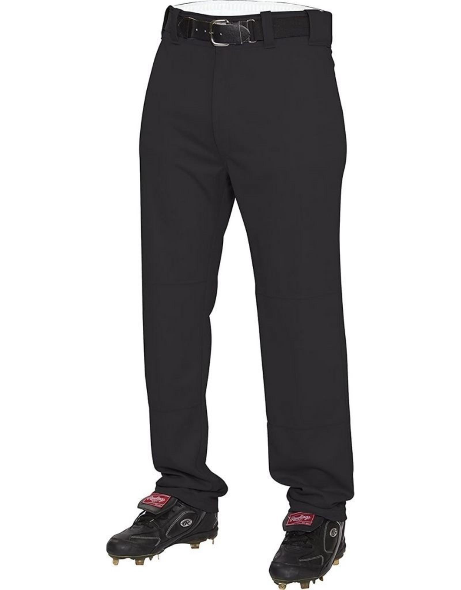 Rawlings Semi-Relaxed Adult Baseball Pants Black