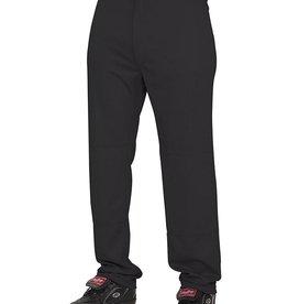 Rawlings Semi-Relaxed Youth Baseball Pants Black