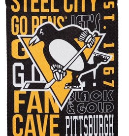 "Evergreen Fan Rules Flag 29""X43"" Pittsburgh Penguins"