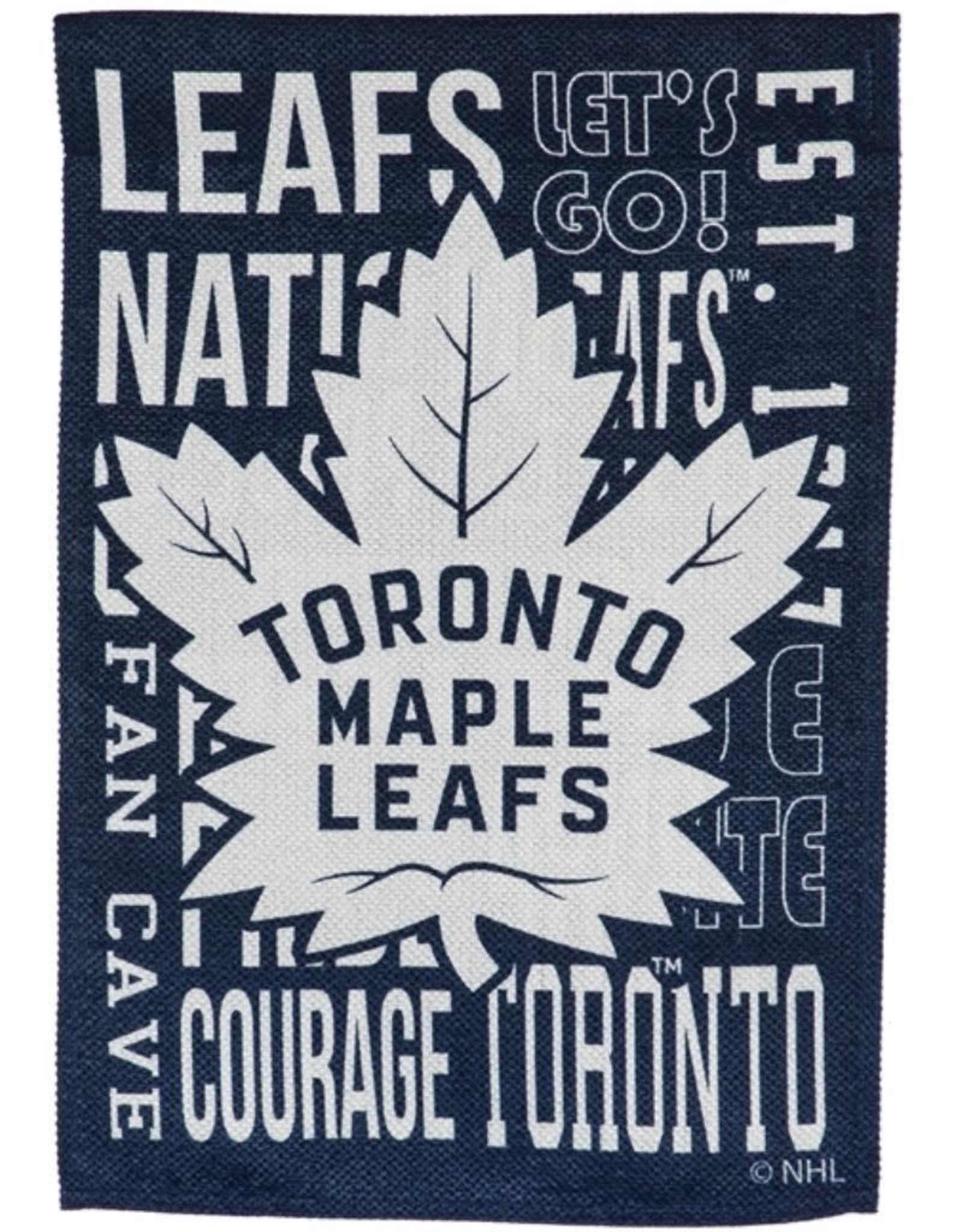 "Team Sports America Fan Rules House Flag 29"" x 43"" Toronto Maple Leafs"