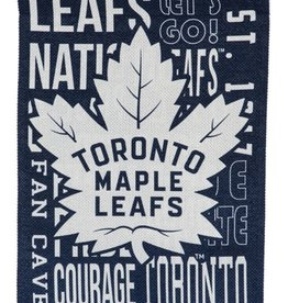 "Team Sports America Fan Rules House  Flag 29"" x 43"" Toronto Maple Leafs"