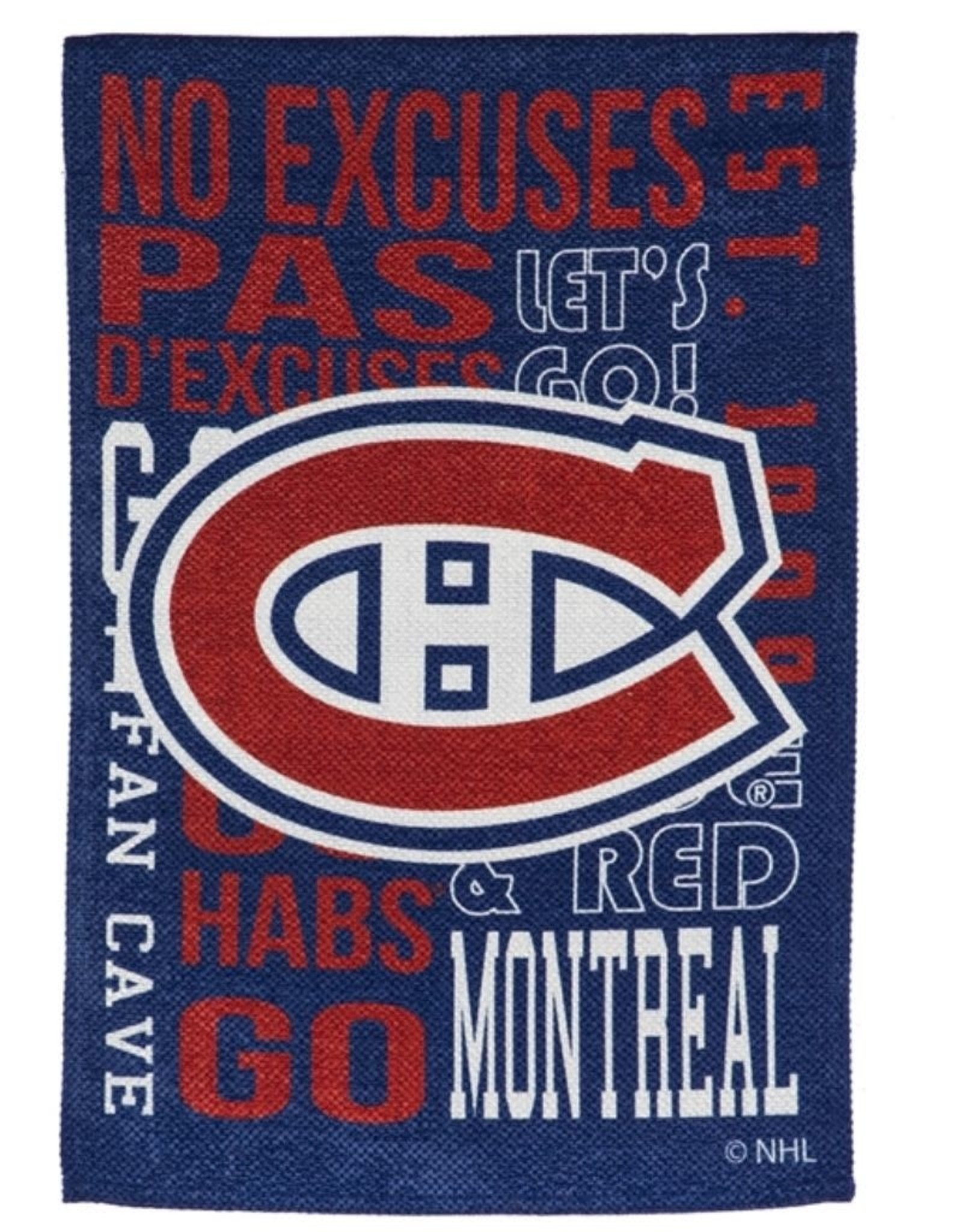 "Team Sports America Fan Rules House Flag 29""X43"" Montreal Canadiens"