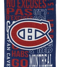 "Evergreen Fan Rules Flag 29""X43"" Montreal Canadiens"