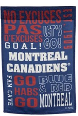 """Evergreen Fan Rules Flag 29""""X43"""" Montreal Canadiens"""