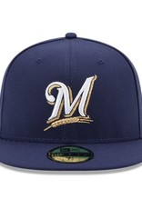 New Era On-Field Authentic 59FIFTY Home Hat Milwaukee Brewers Navy