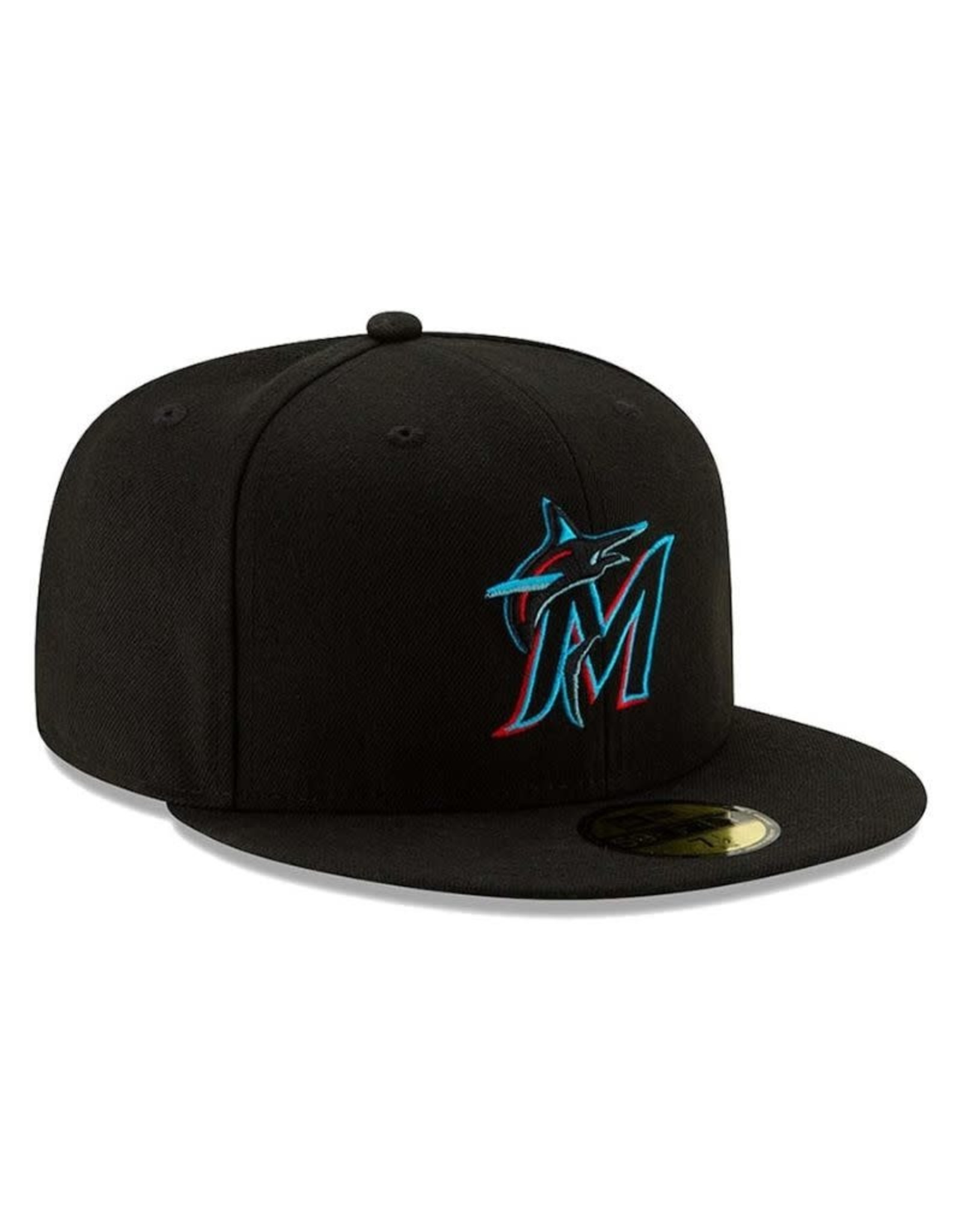 New Era On-Field  Authentic 59FIFTY Home Hat Miami Marlins Black