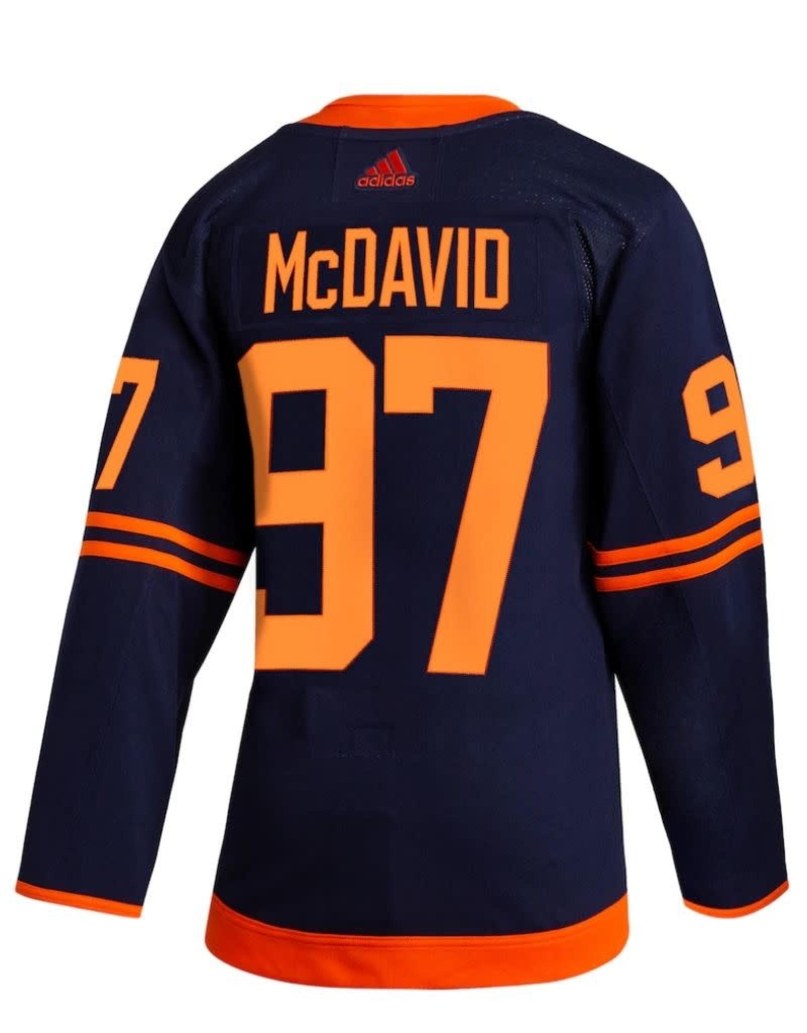 Adidas Adidas Men's Edmonton Oilers Navy Jersey McDavid #97