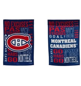 """Evergreen Fan Rules Garden Flag 12.5"""" X 18"""" Montreal Canadiens"""