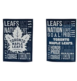 "Evergreen Fan Rules Garden Flag 12.5""X18"" Toronto Maple Leafs"