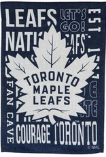 "Team Sports America Fan Rules Garden Flag 12.5"" x 18"" Toronto Maple Leafs"