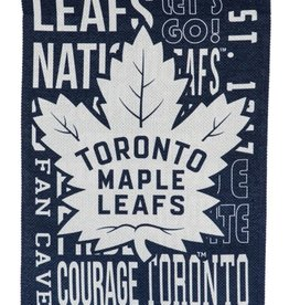 "Team Sports America Fan Rules Garden Flag 12.5"" x 18"" Toronto Maple Leafs"