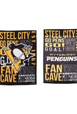 "Team Sports America Fan Rules Garden Flag 12.5"" x 18"" Pittsburgh Penguins"