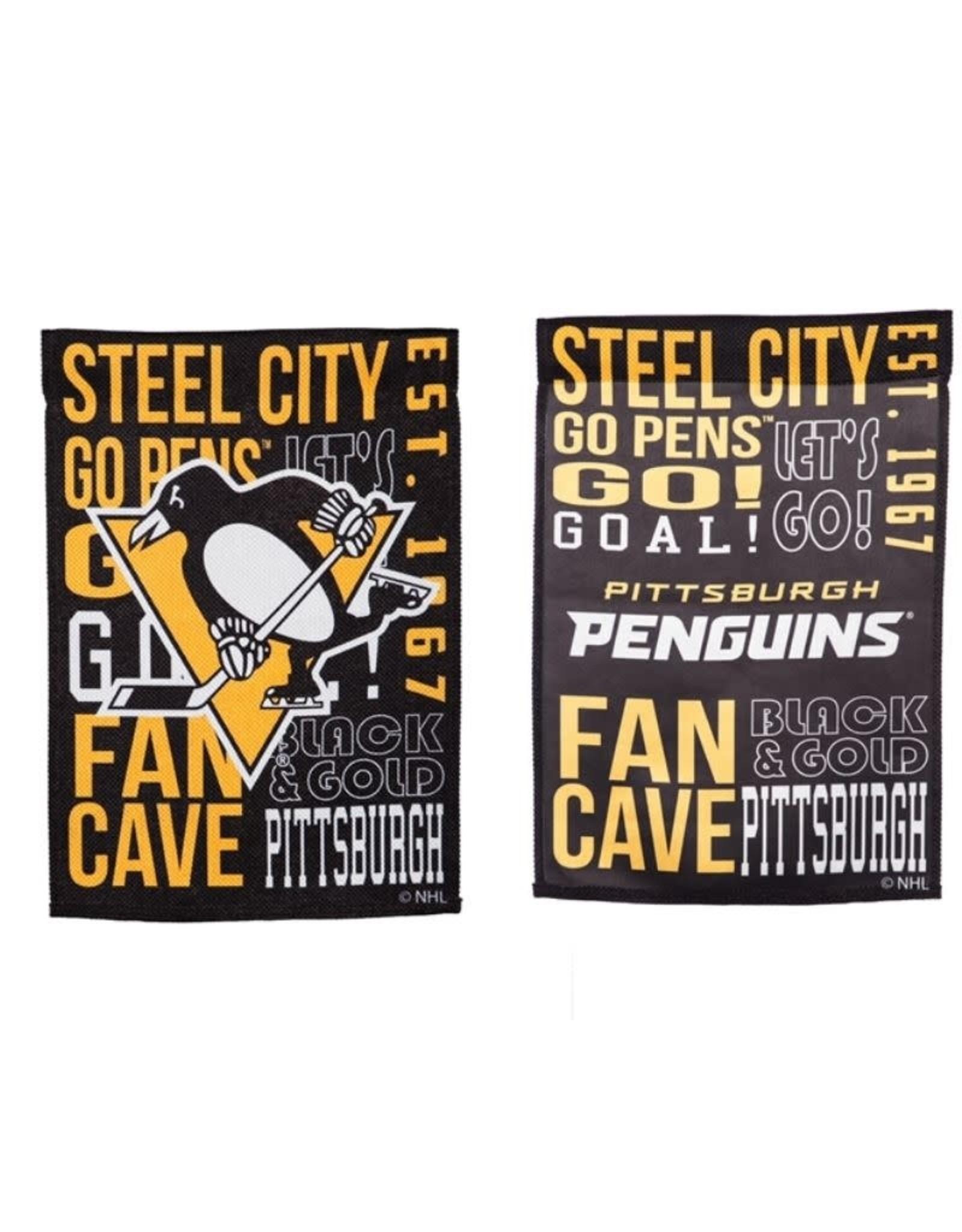 "Team Sports America Fan Rules Garden Flag 12.5"" x 18"" Pittsburgh Penguins"