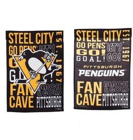 "Evergreen Fan Rules Garden Flag 12.5"" X 18"" Pittsburgh Penguins"