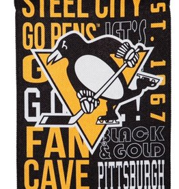 "Evergreen Fan Rules Garden Flag 12.5"" X 18"" Pittsburgh Penguins"