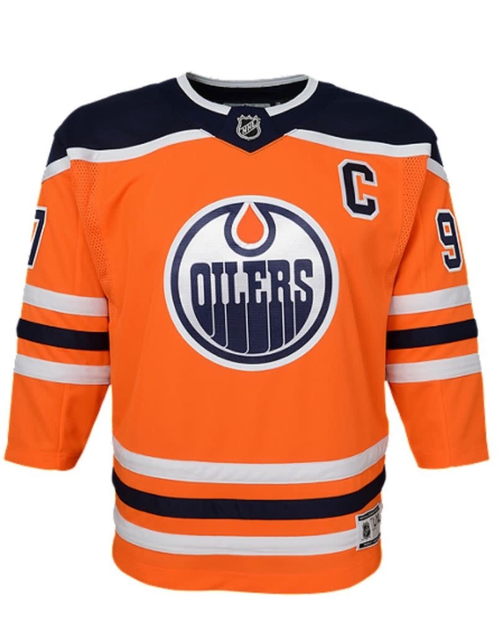 NHL Youth Premier Home Jersey McDavid #97 Edmonton Oilers Orange