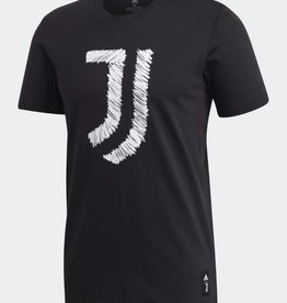 Adidas Adidas Men's DNA Logo Graphic T-Shirt Juventus Black