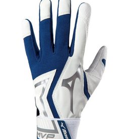 Mizuno MVP Adult Batting Gloves Navy/White