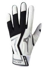 Mizuno MVP Adult Batting Glove Black/White