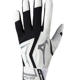 Mizuno MVP Adult Batting Glove Black/White