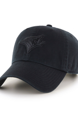 '47 Men's Clean Up Hat Toronto Blue Jays Black/Black Adjustable