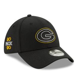 New Era '20 NFL Draft Men's 39THIRTY Hat Green Bay Packers Black