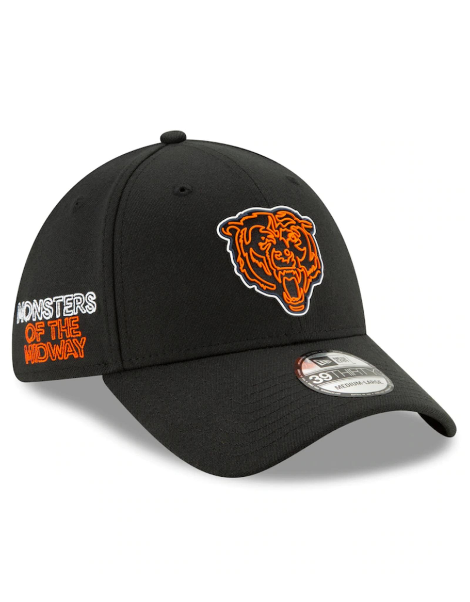 New Era '20 NFL Draft Men's 39THIRTY Hat Chicago Bears Black