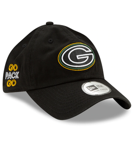 New Era '20 NFL Draft Casual Classic Hat Green Bay Packers Black Adjustable
