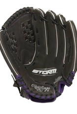 Rawlings Storm Ball Glove Black Purple 12